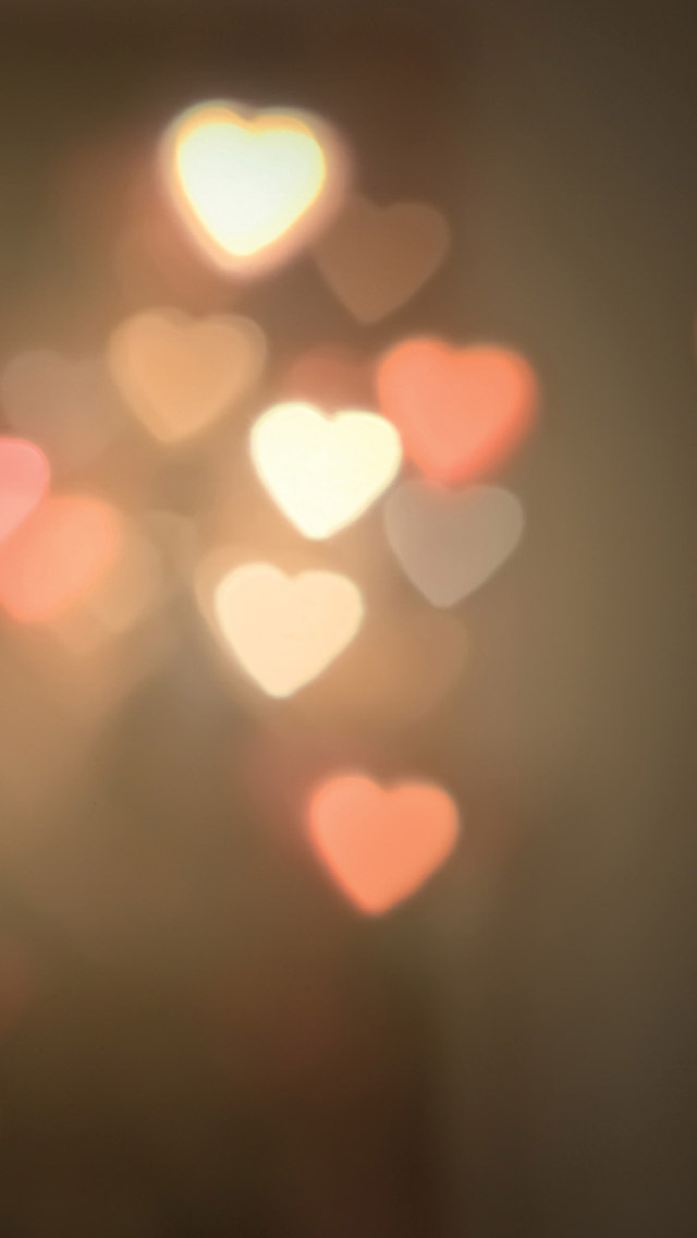 Heart shaped lights iPhone wallpaper