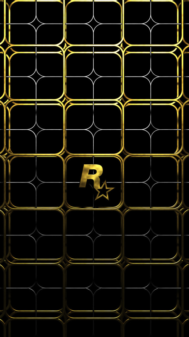Gold Lattice iPhone wallpaper
