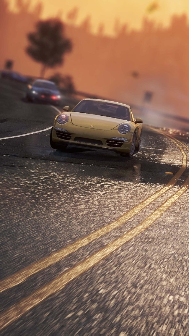 Speed Race iPhone wallpaper