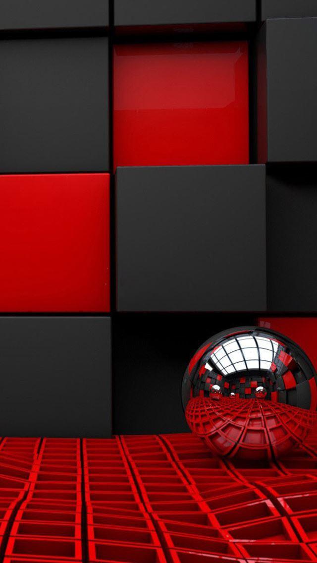 Metal Spheres Cubes Iphone Wallpapers Free Download
