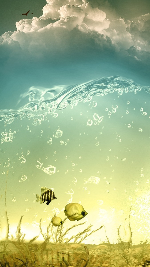 Fantasy Water World iPhone wallpaper