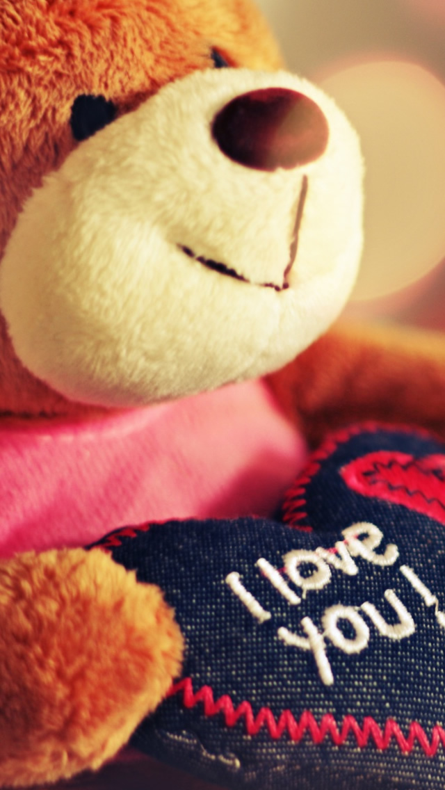 I Love You Teddy Bear iPhone wallpaper