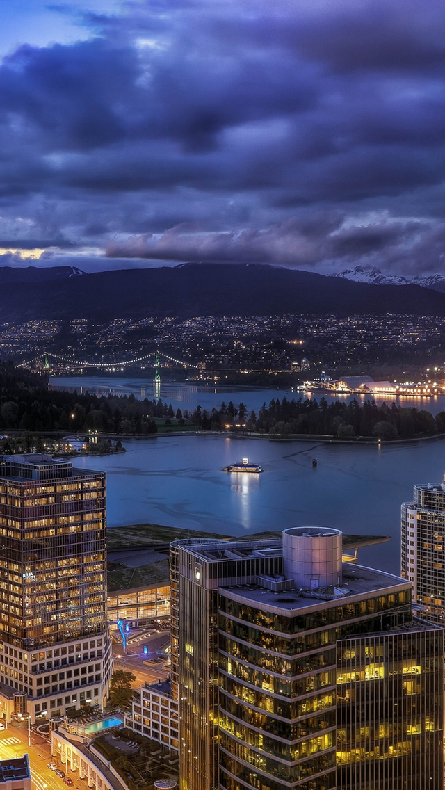 Vancouver City Skyline iPhone wallpaper