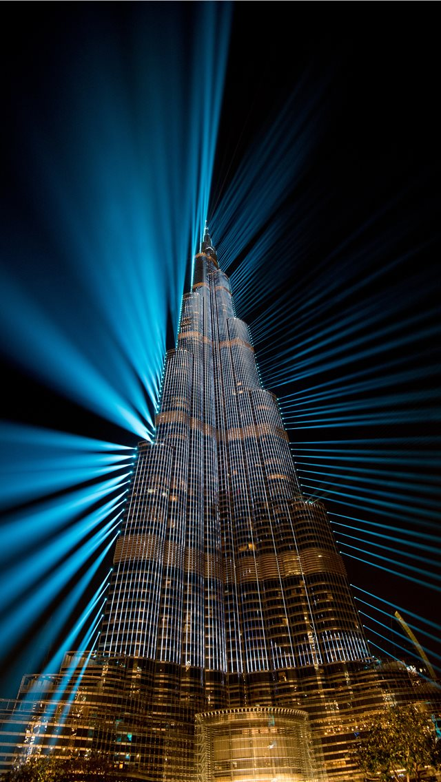 Burj Khalifa At Night Dubai Iphone Wallpapers Free Download