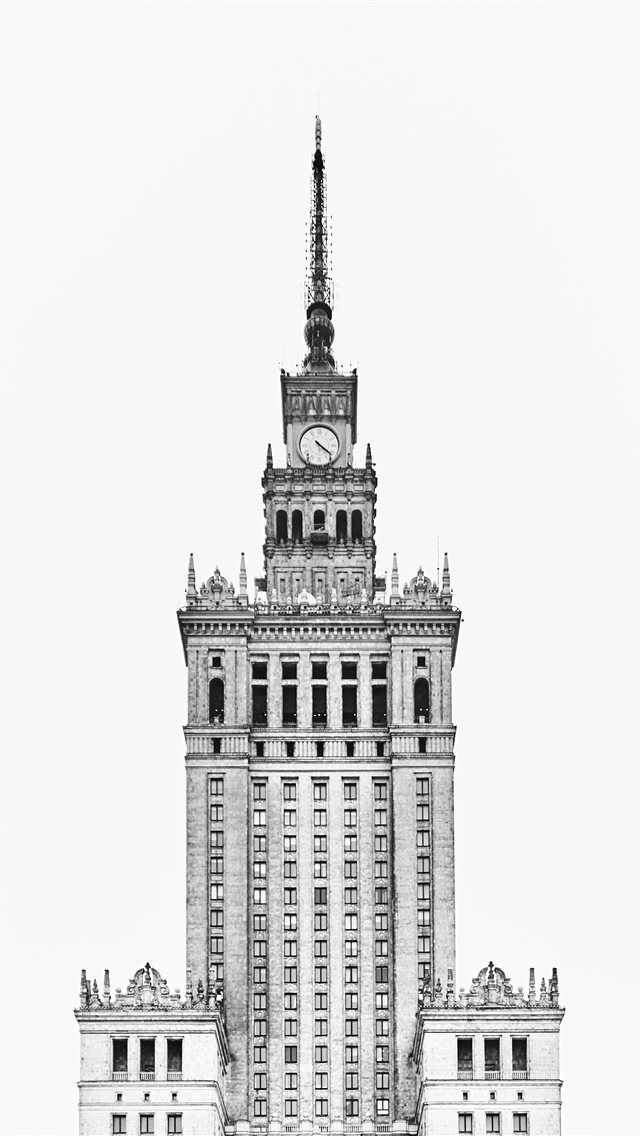 Palace of Culture and Science  Warszawa  Poland iPhone wallpaper