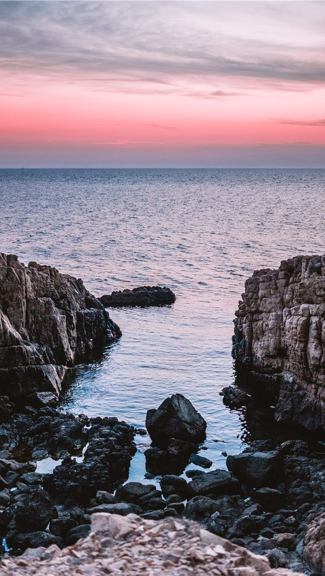 Beach Rocks V2 iPhone wallpaper