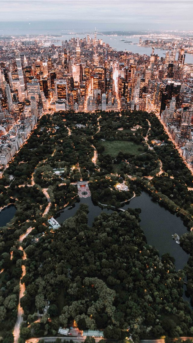 Central Park from above   New York City iPhone wallpaper