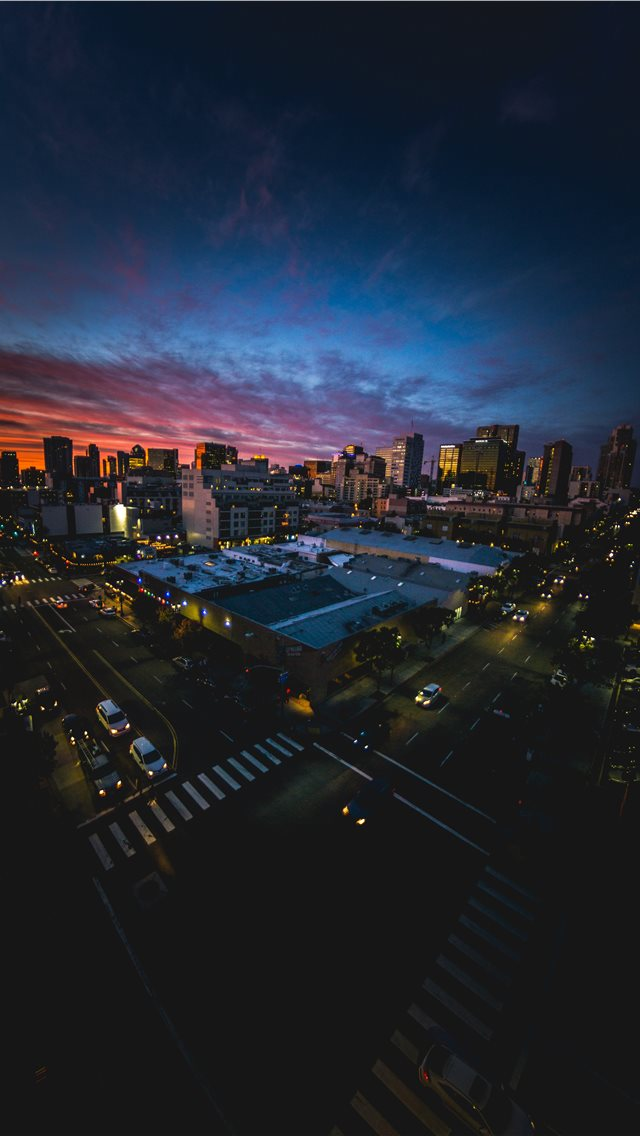 San Diego sunset through a fisheye lens iPhone wallpaper