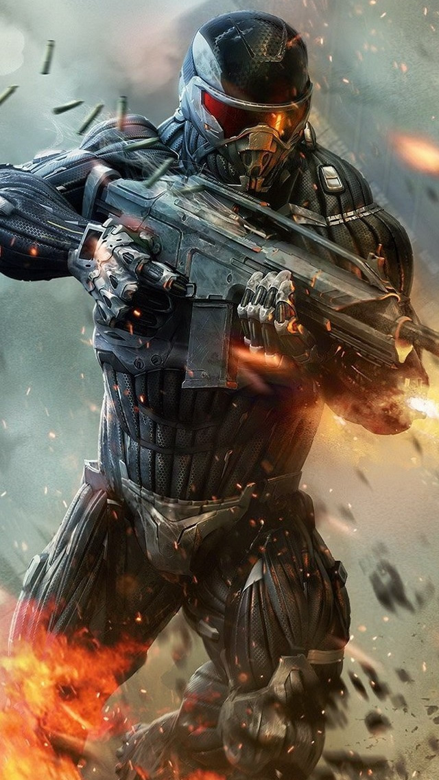 Crysis 2 Shooter Video Game Iphone Wallpapers Free Download