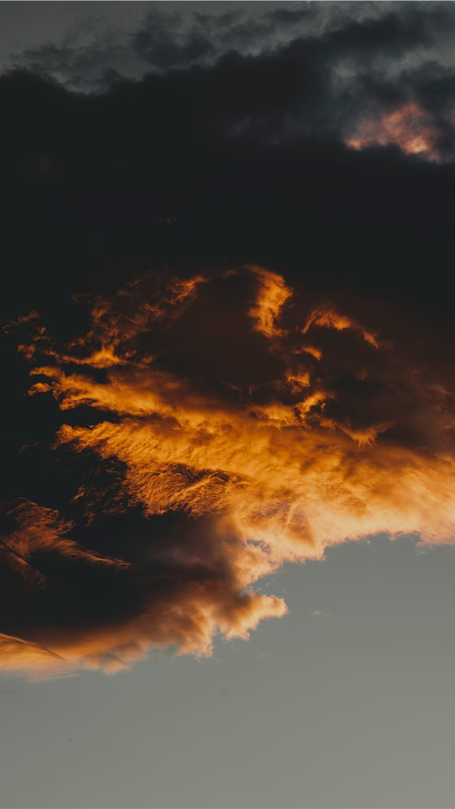 cloud formation during daytime iPhone wallpaper