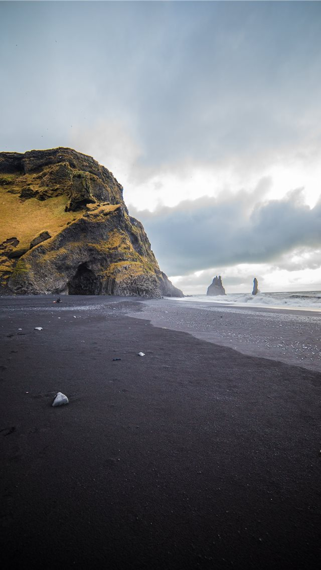 Vik Black Sand Shores  Vik  Iceland iPhone wallpaper
