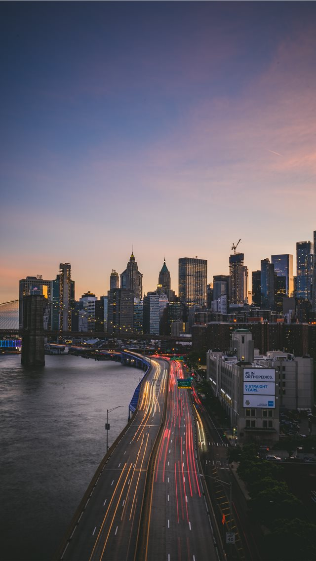 Manhattan Bridge  New York  United States iPhone wallpaper