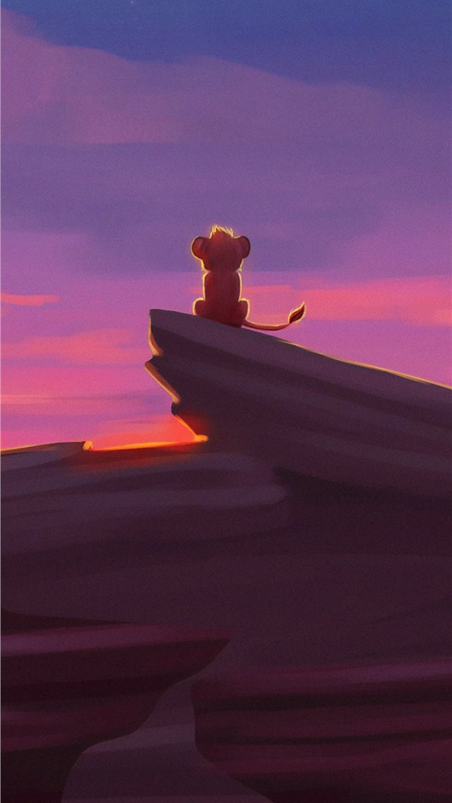 simba the lion king iPhone wallpaper