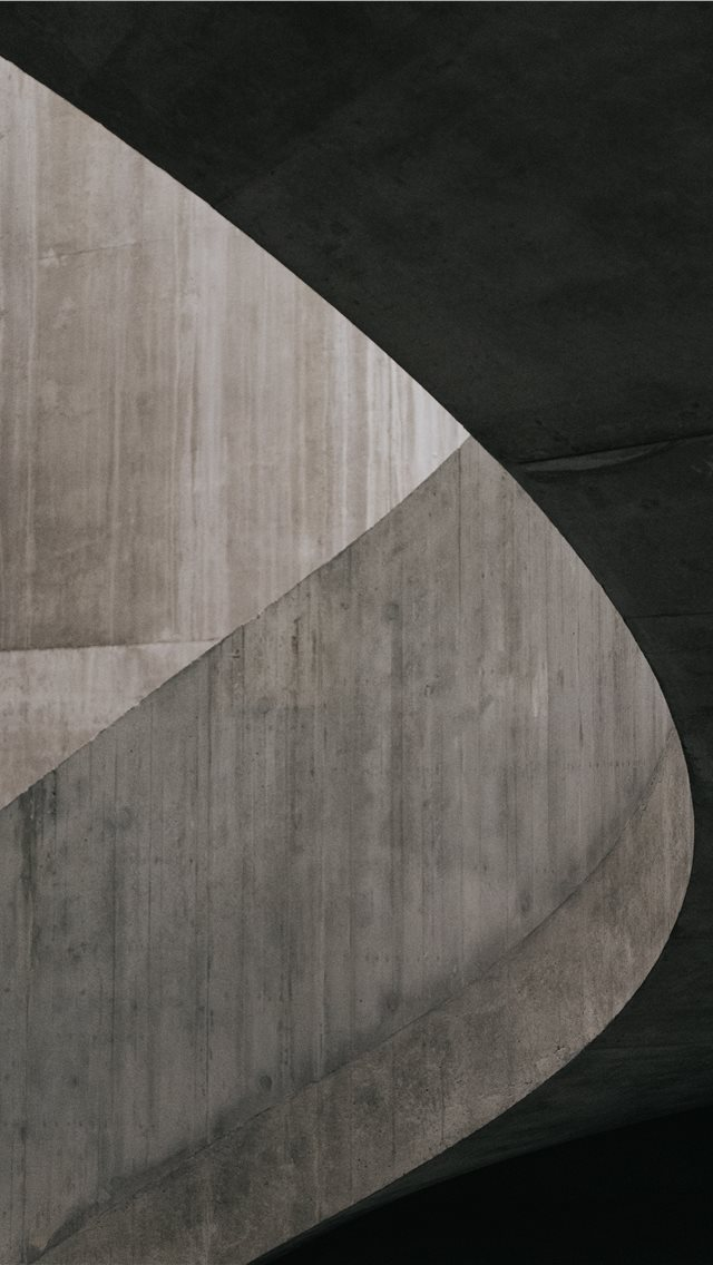 Concrete staircase in the Switch House at Tate Mod... iPhone wallpaper