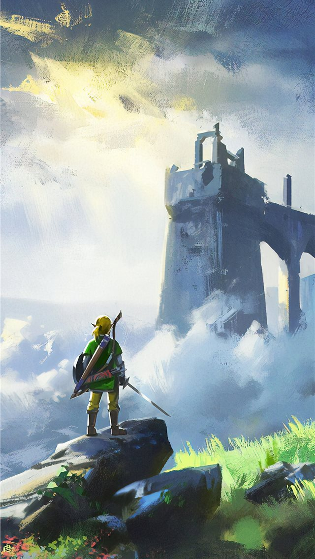 the legend of zelda breath of wild game 4k iPhone wallpaper