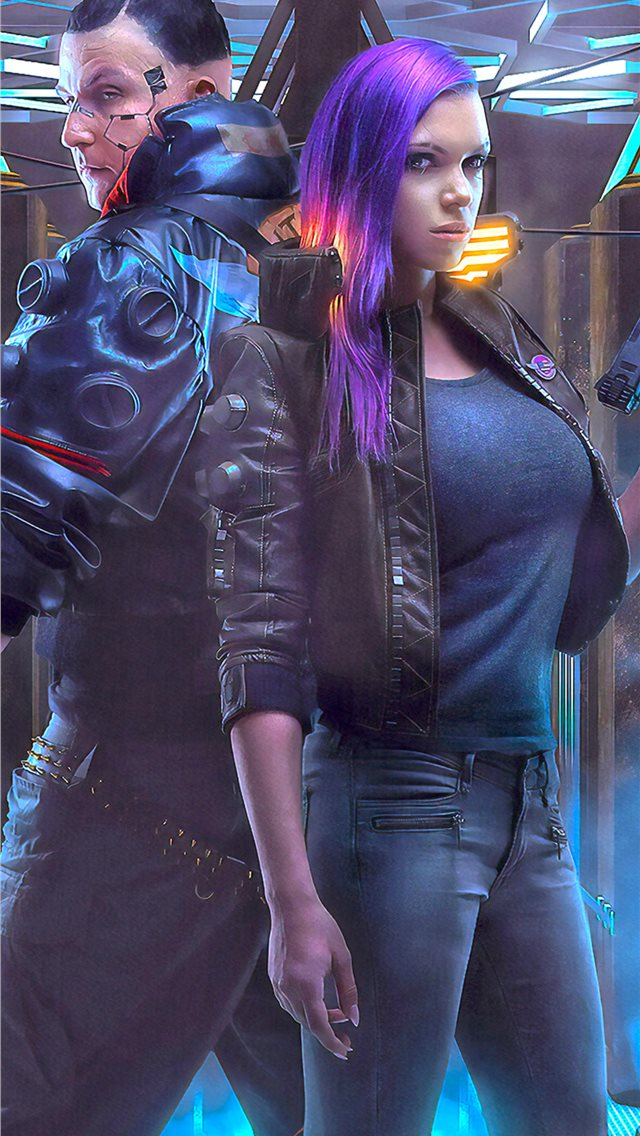 cyberpunk 2077 game cosplay iPhone wallpaper