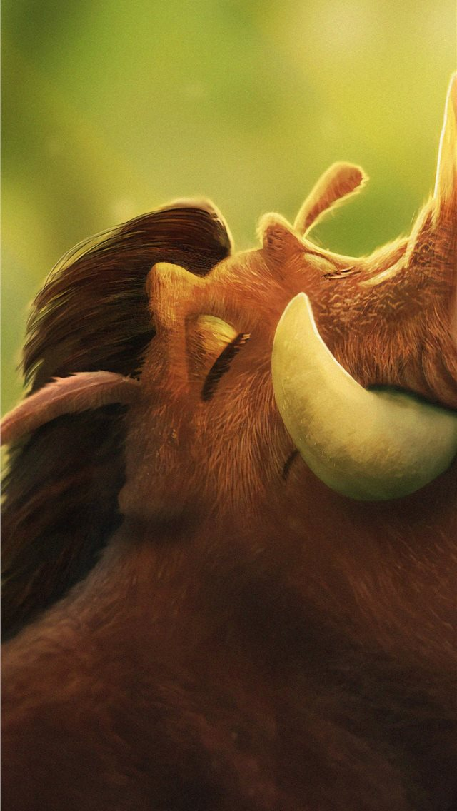 pumbaa 4k 2019 iPhone wallpaper