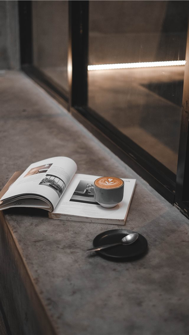 Coffee & Magazine iPhone wallpaper