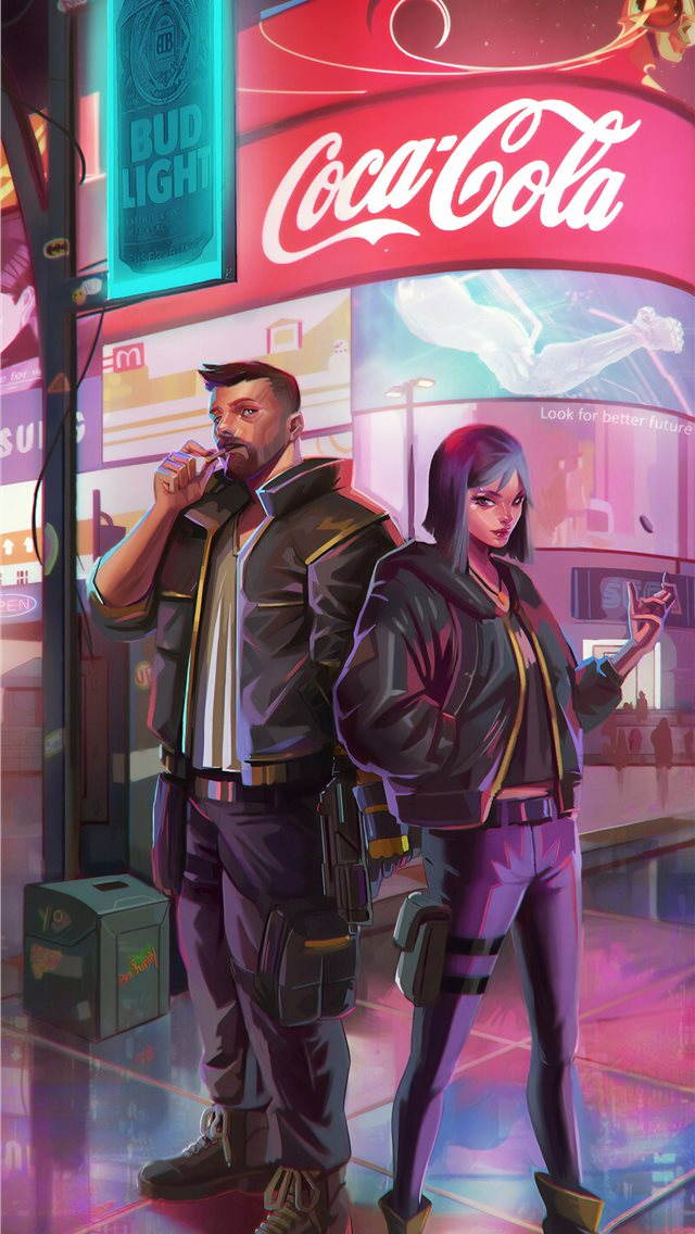 cyberpunk 2077 new iPhone wallpaper