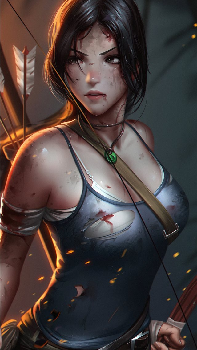lara croft tombraider iPhone wallpaper