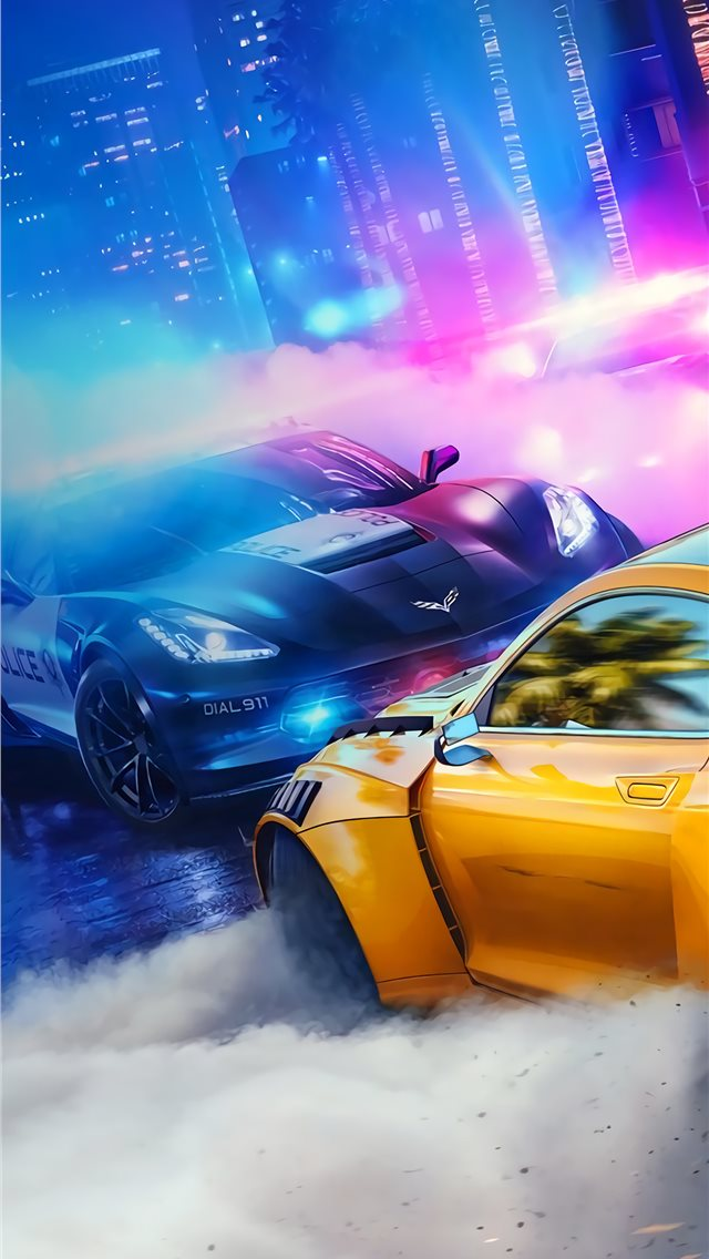 need for speed heat iPhone wallpaper