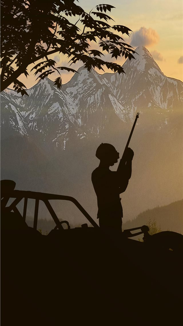 pubg silhouette 4k iPhone wallpaper