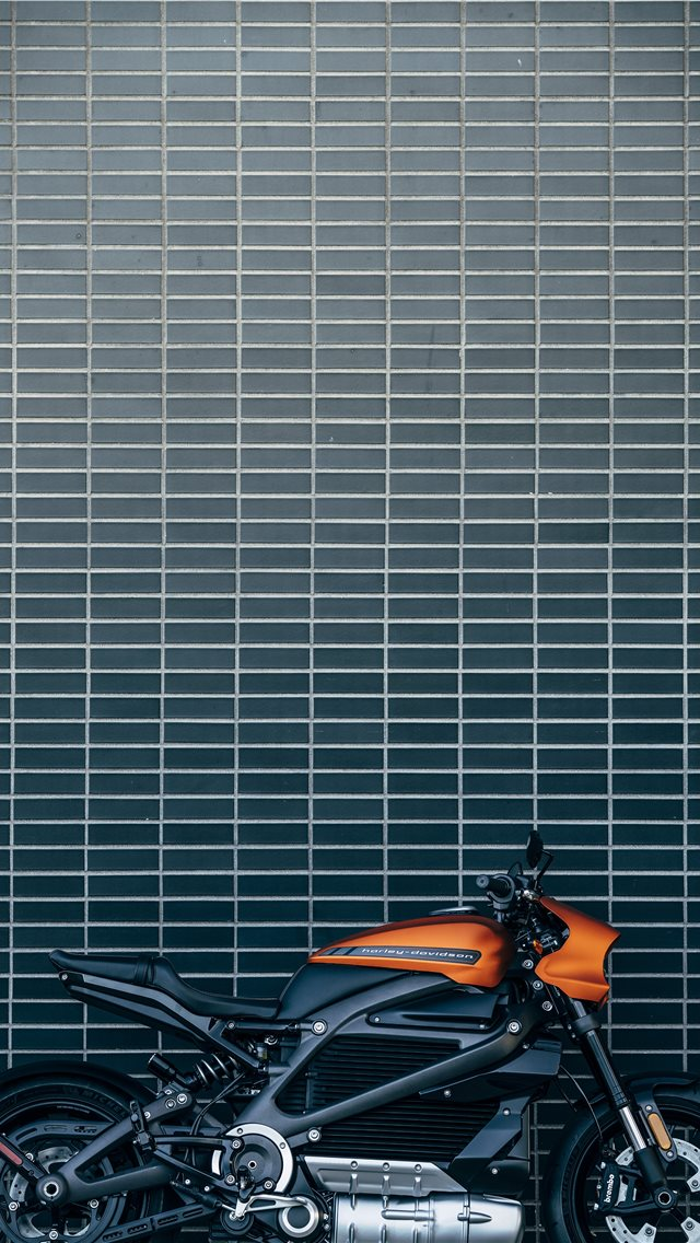 orange and black motorcycle iPhone wallpaper