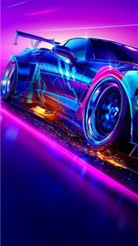 Iphone Neon Wallpaper 4k