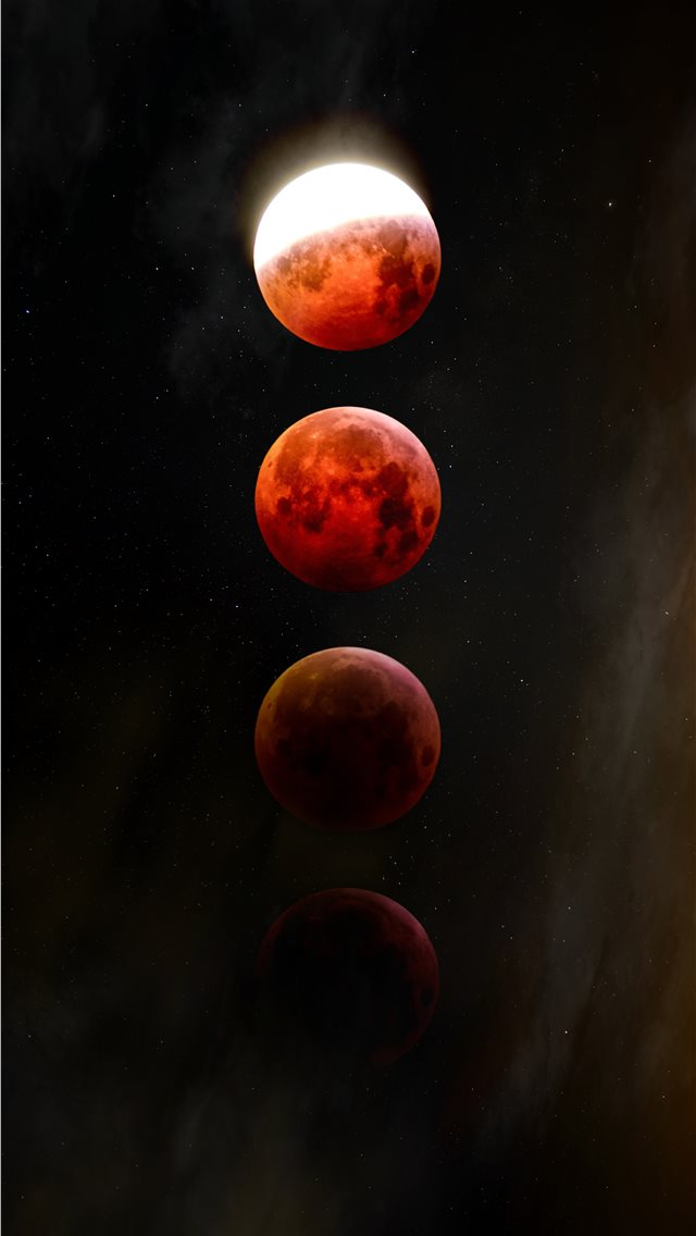 red full moon iPhone wallpaper