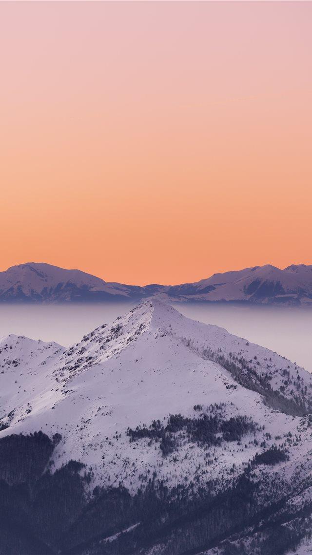 snow mountain iPhone wallpaper