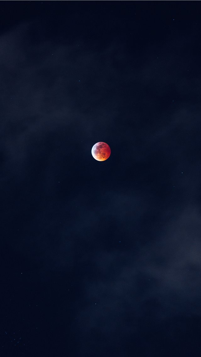 red and white full moon iPhone wallpaper