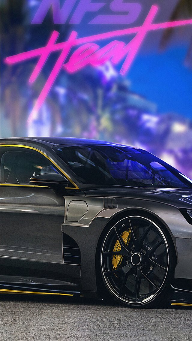 audi e tron nfs heat 4k iPhone wallpaper