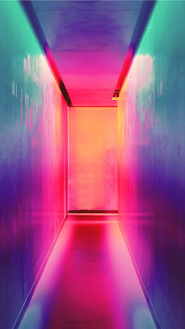 multicolored hallway iPhone wallpaper