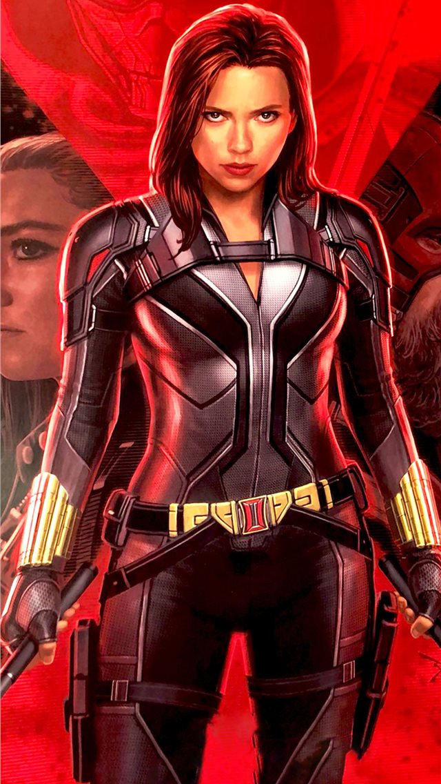 2020 black widow iPhone wallpaper