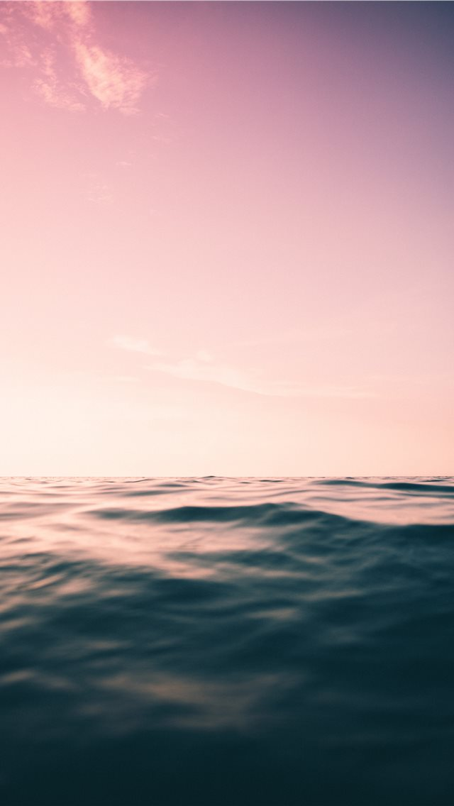 purple skies and ocean iPhone wallpaper
