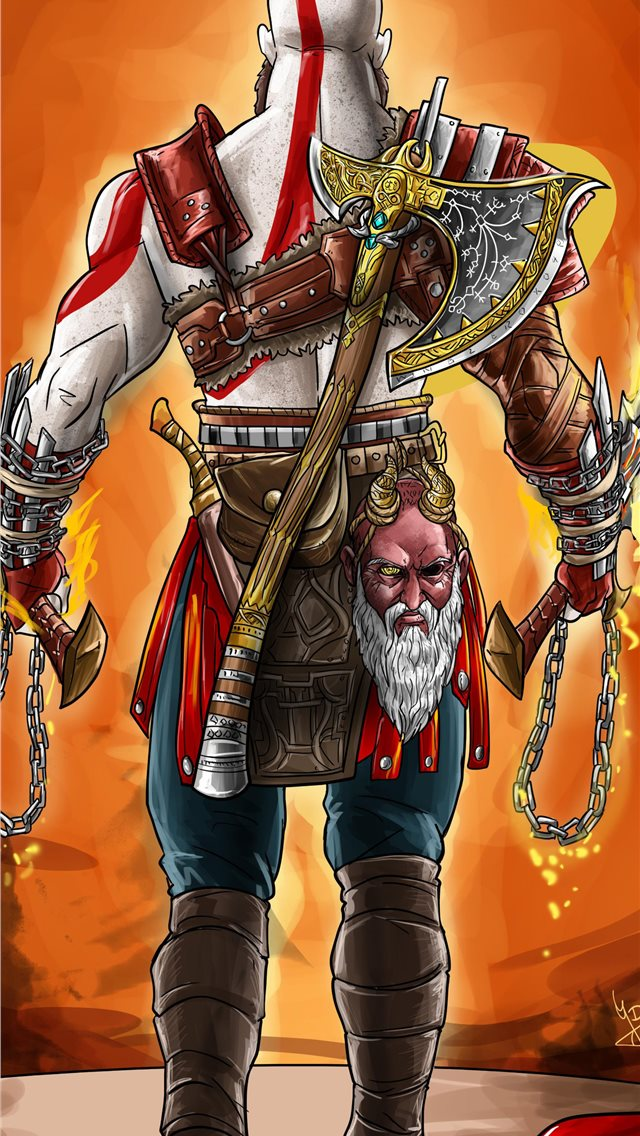 God Of War 4 Digital Art 4k Iphone Wallpapers Free Download
