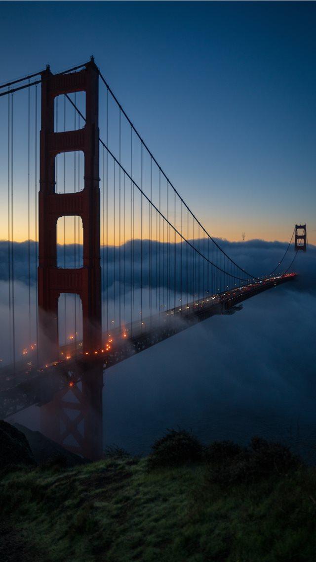 Golden Gate bridge at nighttime iPhone wallpaper
