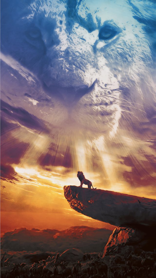 the lion king poster 2019 iPhone wallpaper