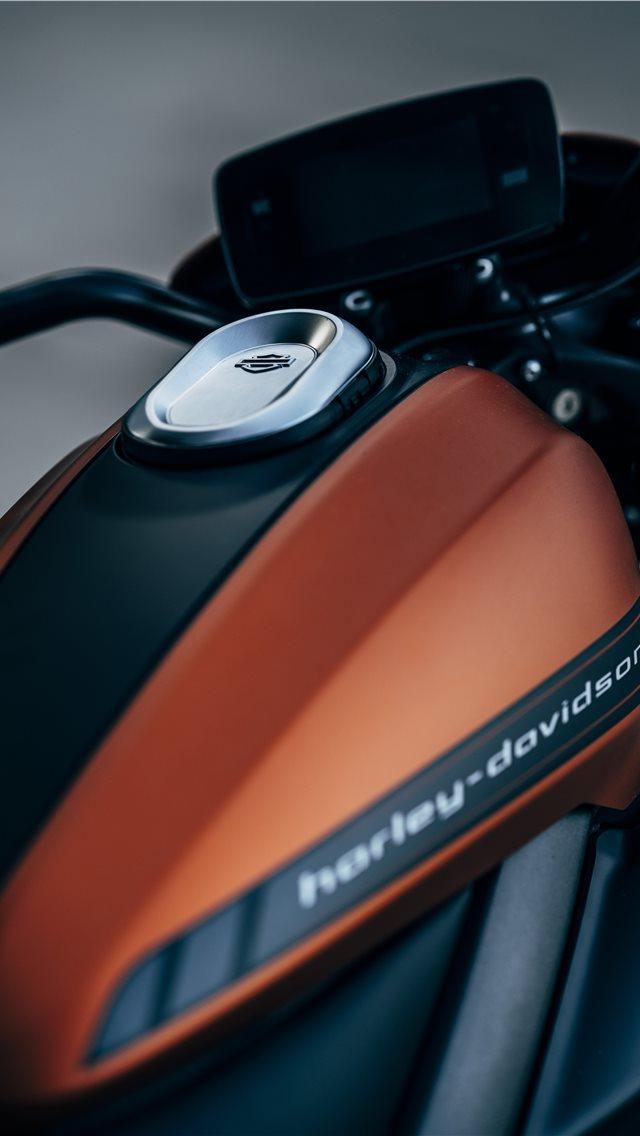 Orange And Black Harley Davidson Backbone Motorcyc Iphone