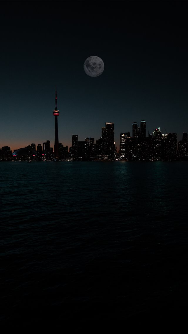 city during night iPhone wallpaper