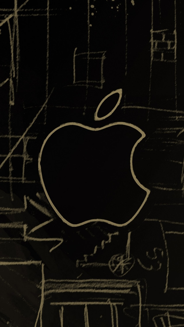 Apple Logo Sketch iPhone wallpaper