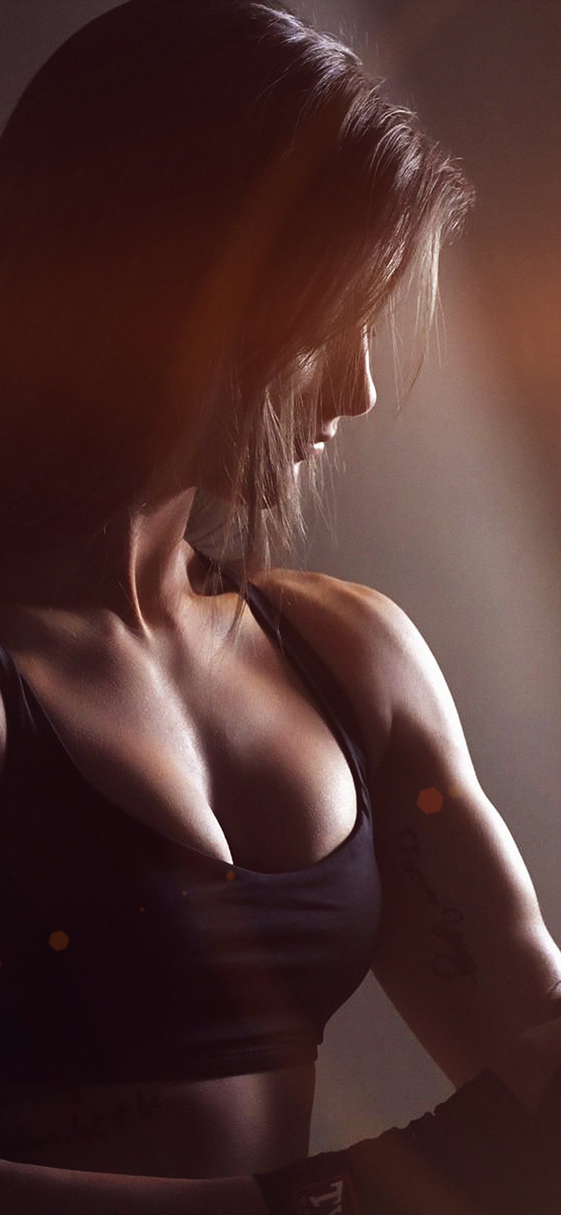 Training girl sexy flare iPhone wallpaper