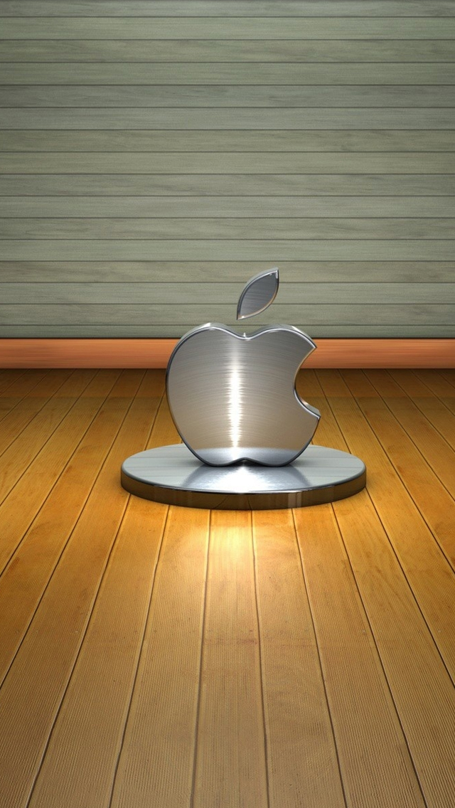3D Apple Logo iPhone wallpaper