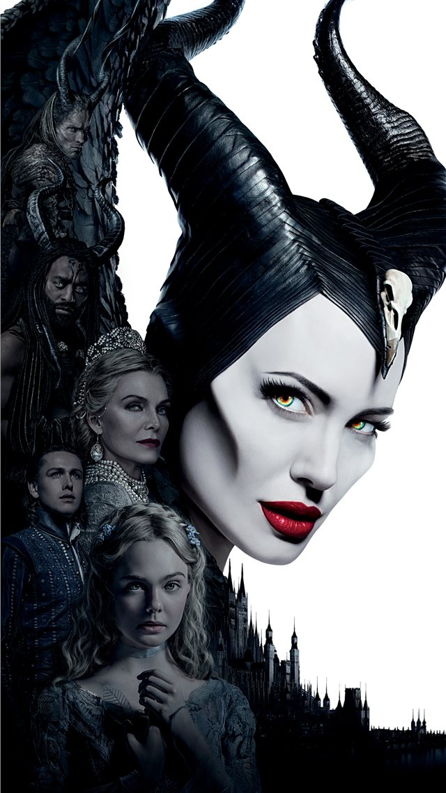 maleficent mistress of evil 5k iPhone wallpaper