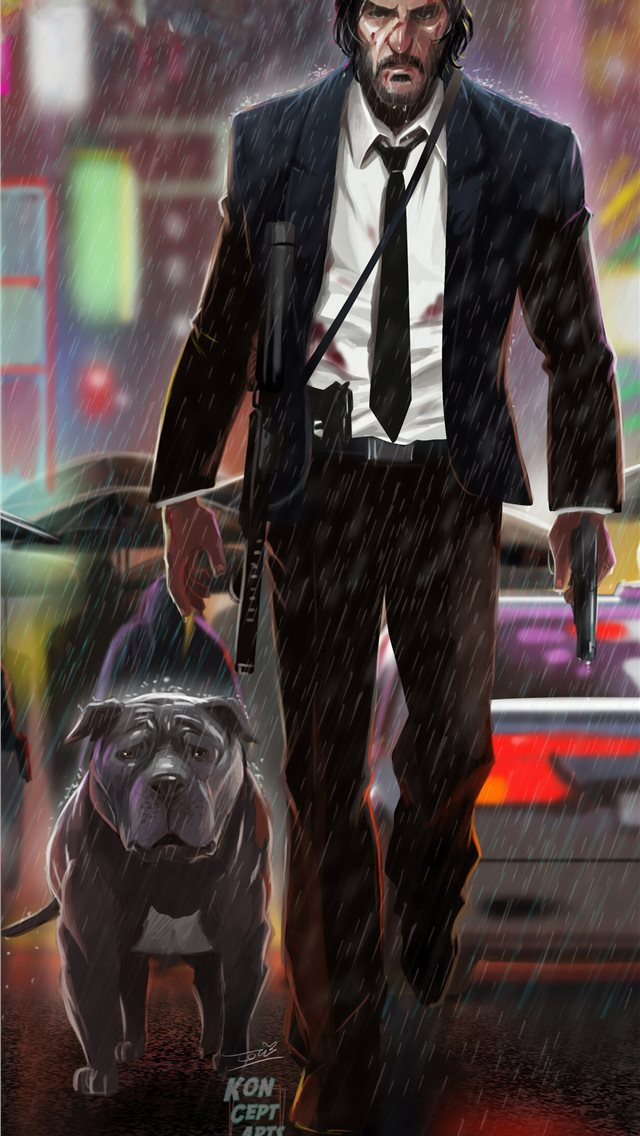 john wick 3 art iPhone wallpaper
