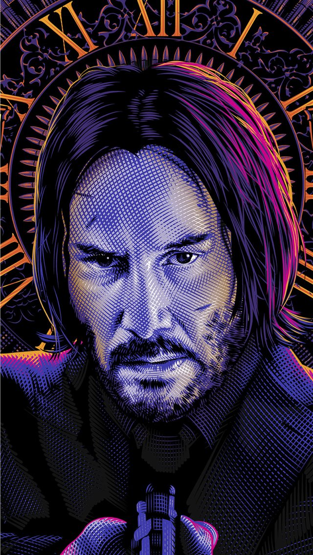 john wick art movie iPhone wallpaper