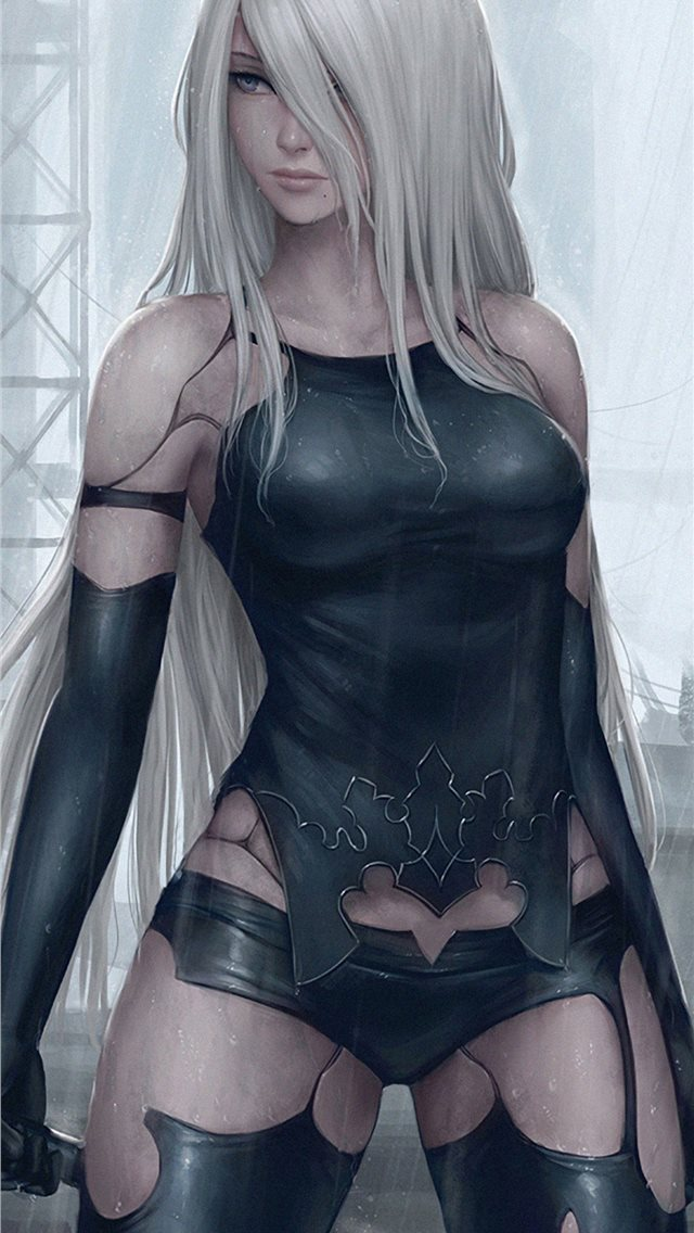 2b and a2 nier automata iPhone wallpaper