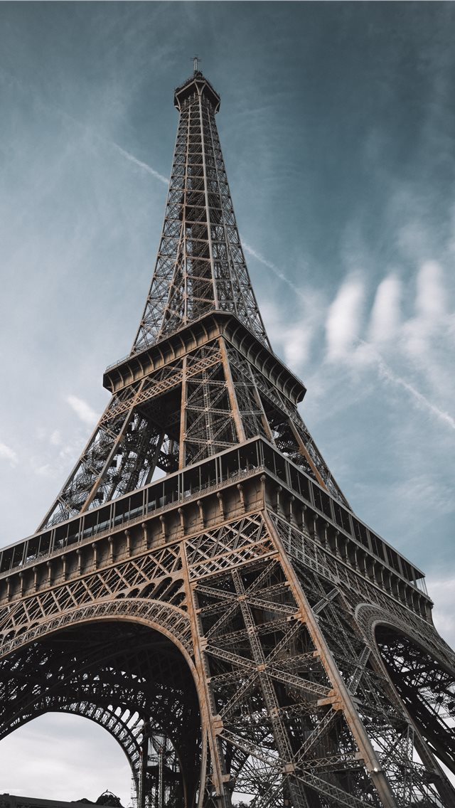 macro photography of Eiffel Tower in Paris France iPhone wallpaper