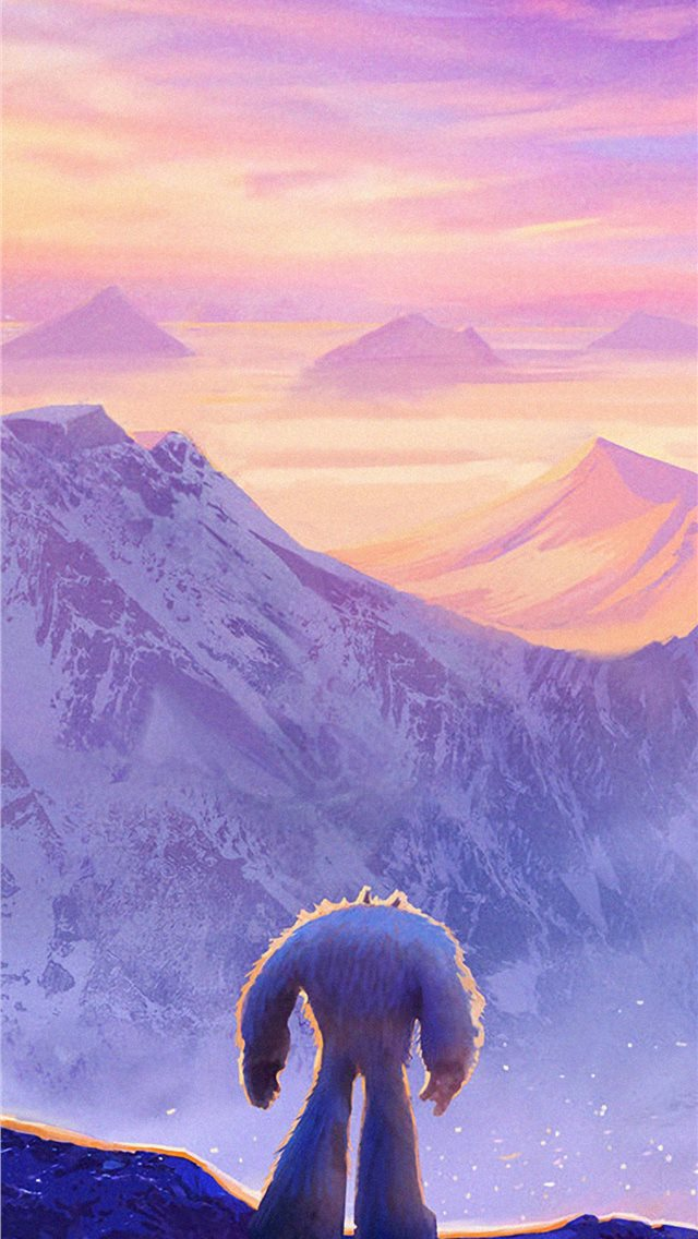 smallfoot movie art iPhone wallpaper