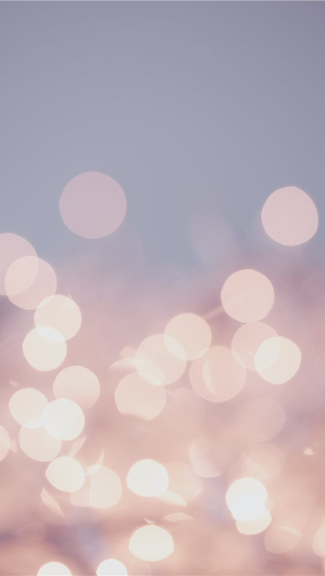 Pretty pastel bokeh fairy lights background  iPhone wallpaper